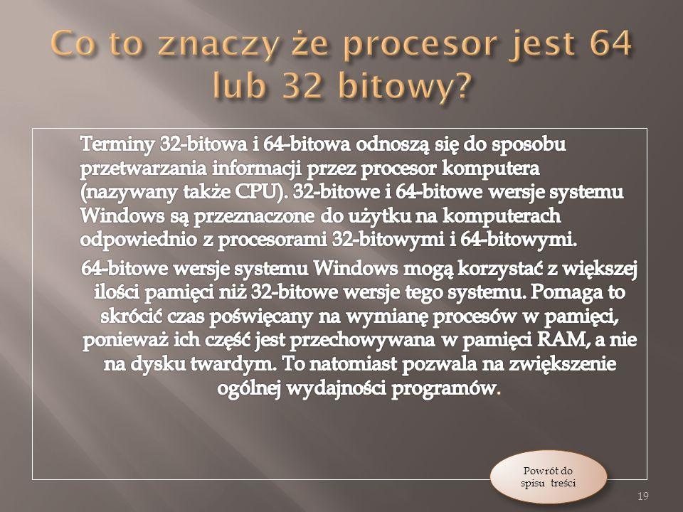 Co to znaczy że procesor jest 64 lub 32 bitowy