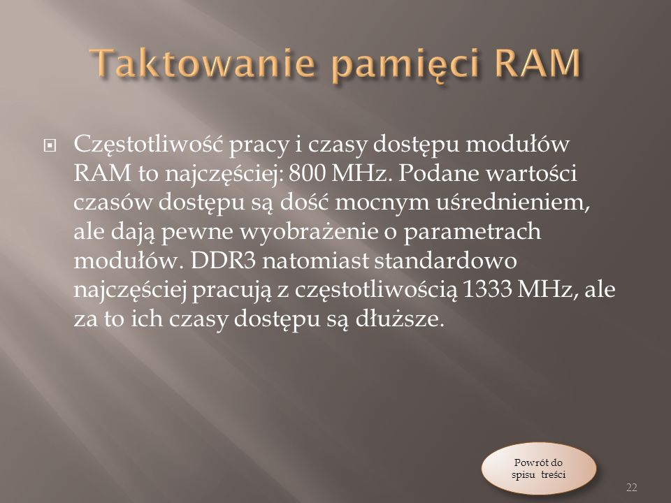 Taktowanie pamięci RAM