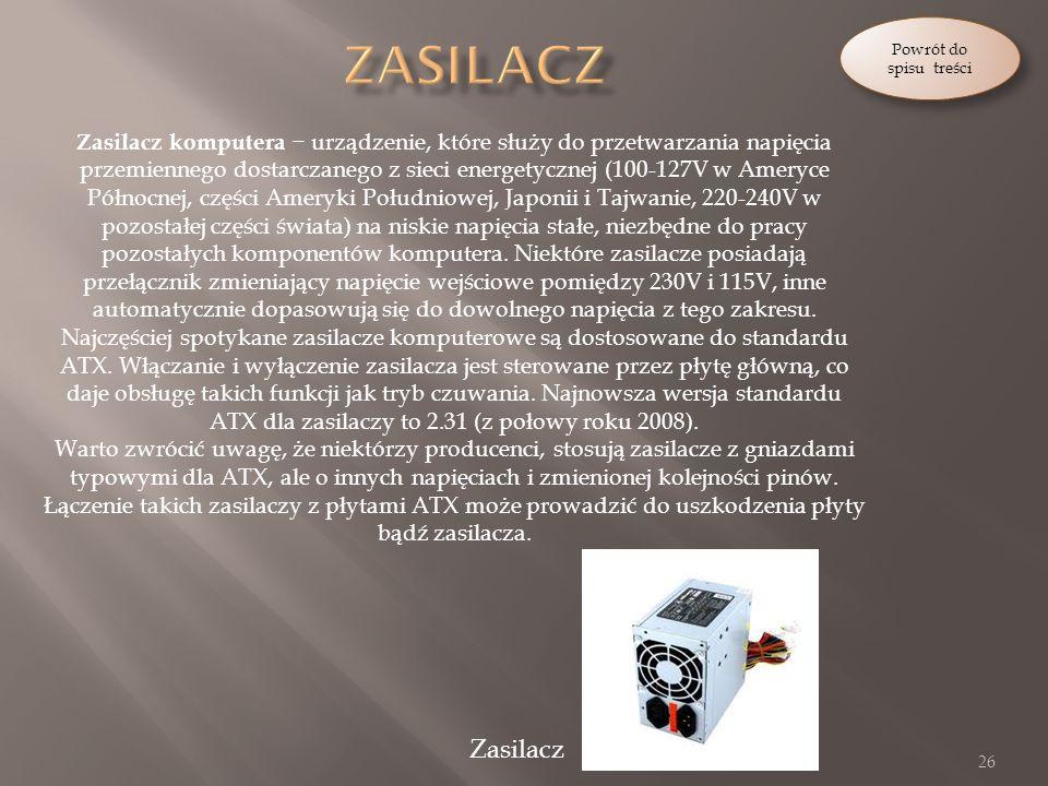 Powrót do spisu treści Zasilacz.