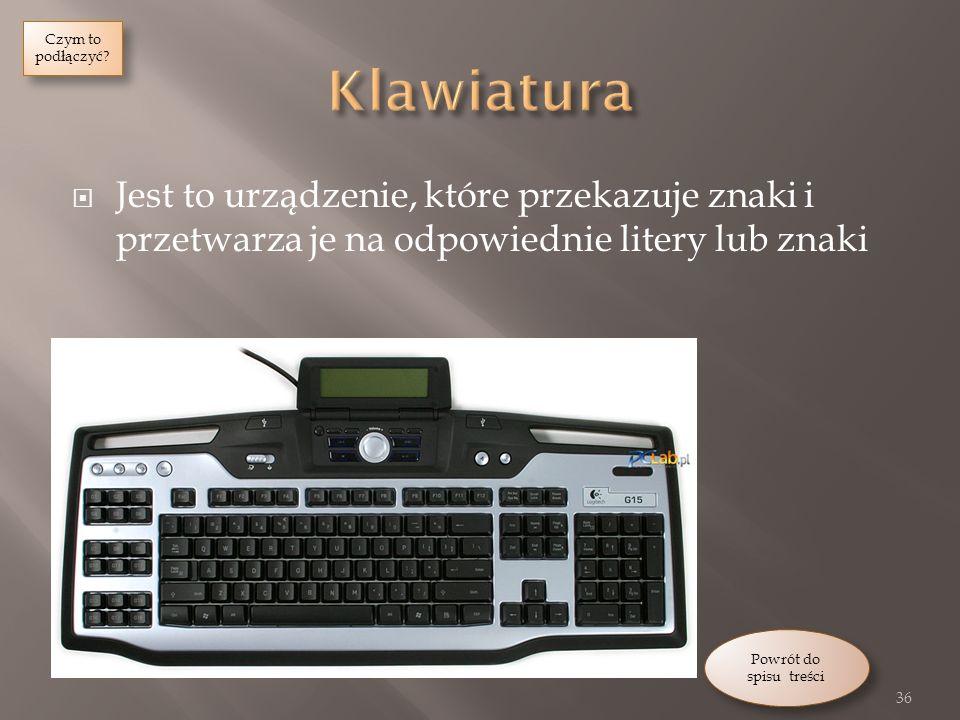 Czym to podłączyć Klawiatura. Jest to urządzenie, które przekazuje znaki i przetwarza je na odpowiednie litery lub znaki.