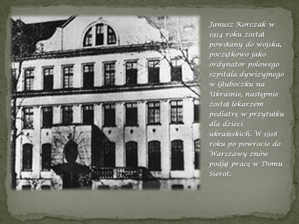 Dom sierot –Janusz Korczak mieszkał na poddaszu.
