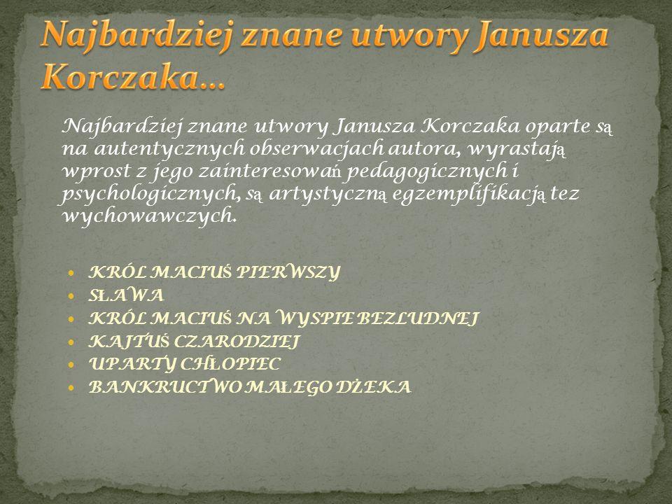 Najbardziej znane utwory Janusza Korczaka…
