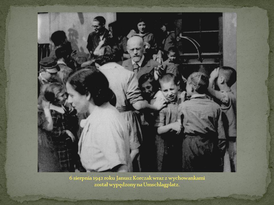 6 sierpnia 1942 roku Janusz Korczak wraz z wychowankami