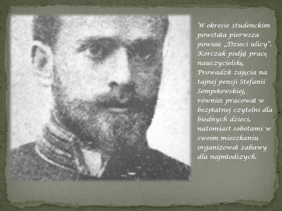 Janusz Korczak w mundurze za szkoły medycznej.