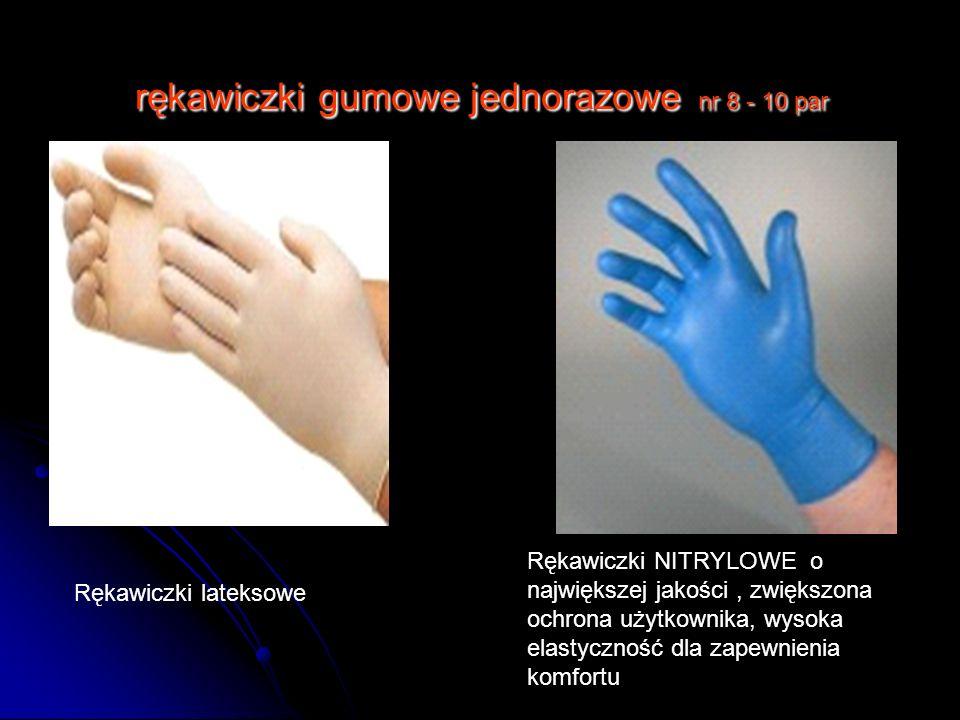 rękawiczki gumowe jednorazowe nr 8 - 10 par