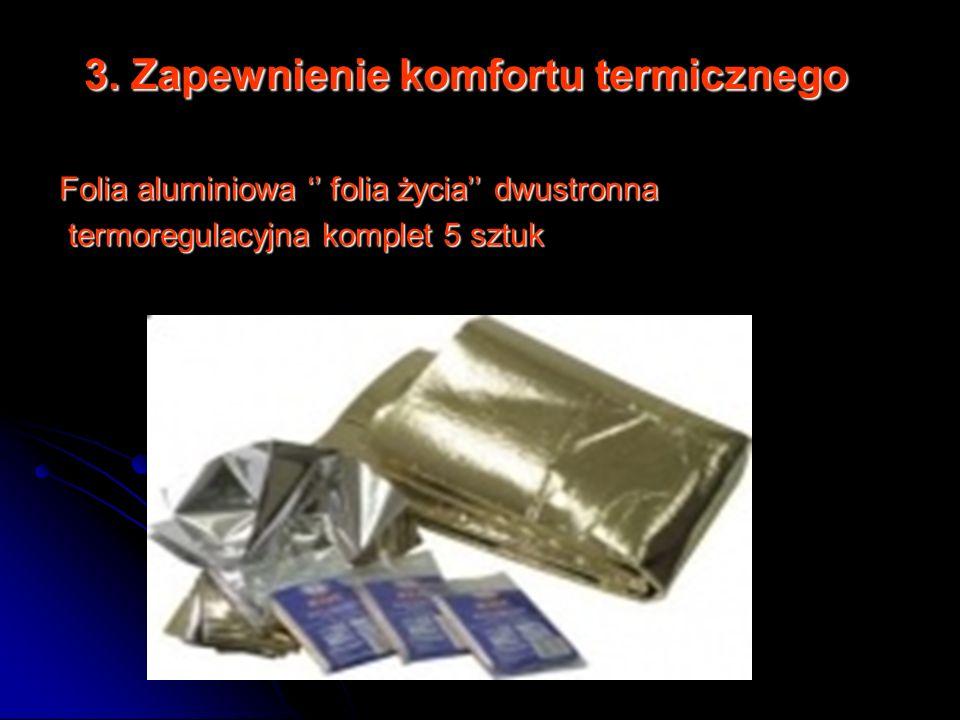 3. Zapewnienie komfortu termicznego