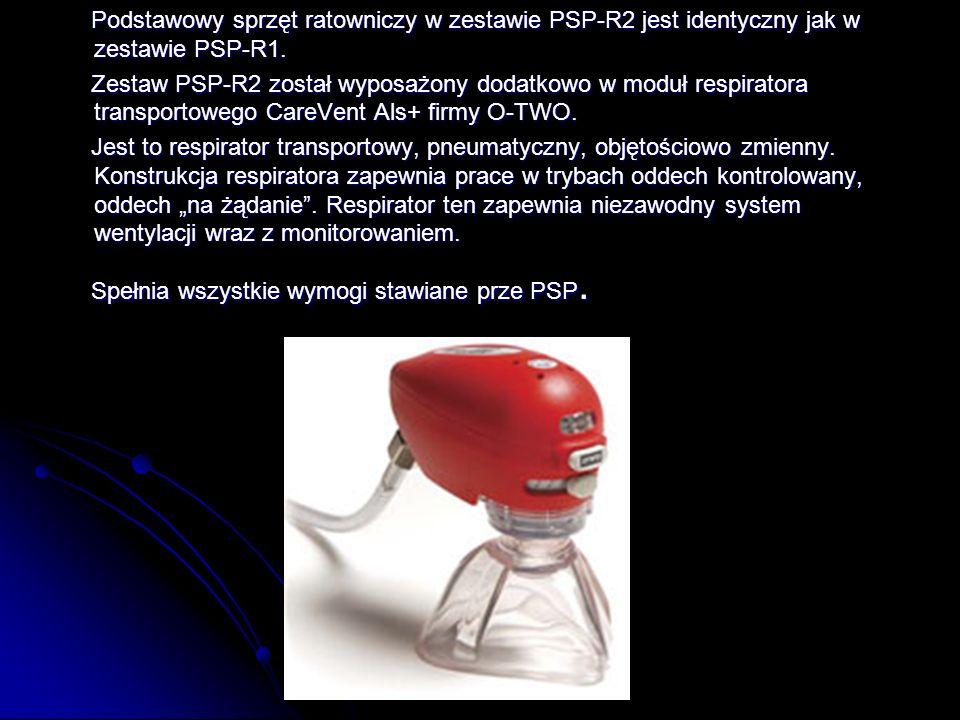 Podstawowy sprzęt ratowniczy w zestawie PSP-R2 jest identyczny jak w zestawie PSP-R1.