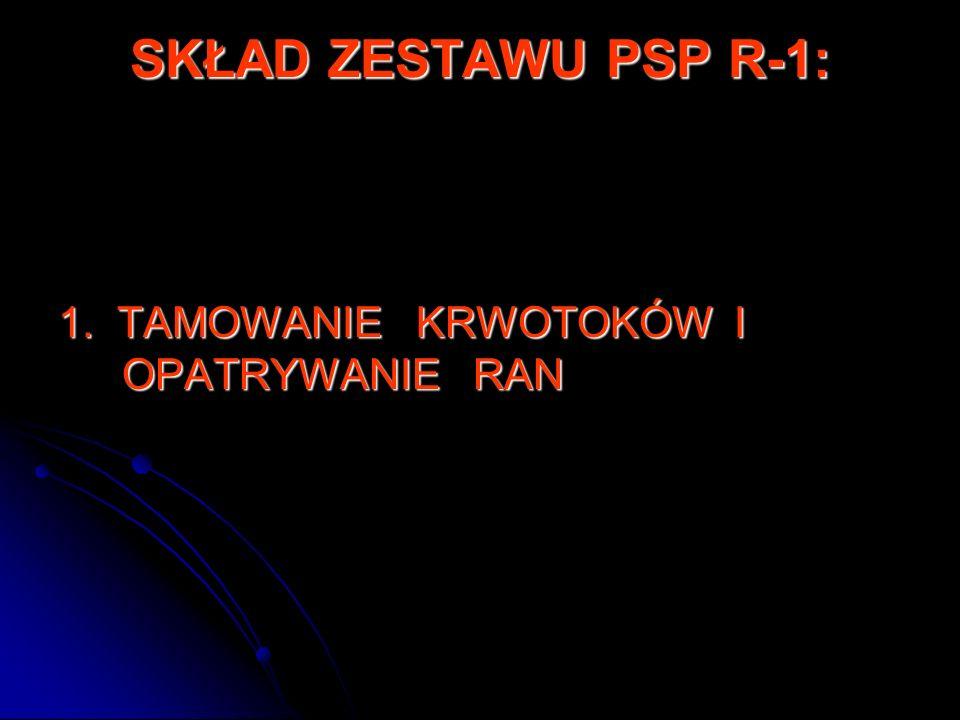 SKŁAD ZESTAWU PSP R-1: 1.