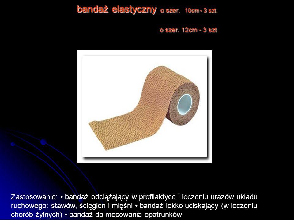 bandaż elastyczny o szer. 10cm - 3 szt. o szer. 12cm - 3 szt