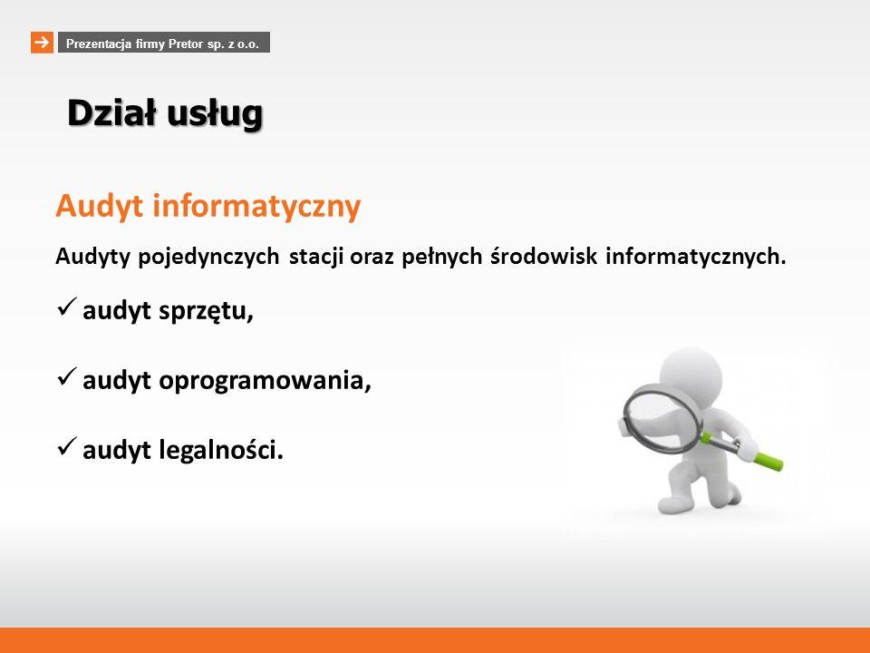 Dział usług Audyt informatyczny