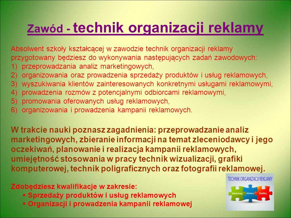 Zawód - technik organizacji reklamy