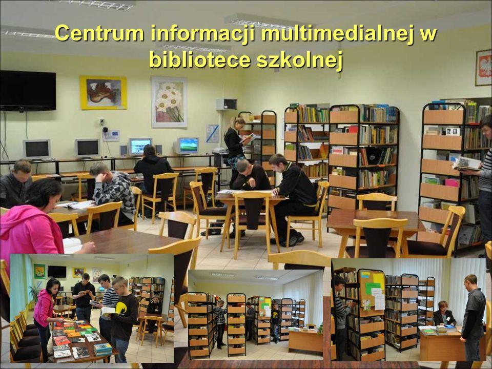 Centrum informacji multimedialnej w bibliotece szkolnej