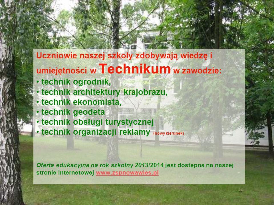 technik architektury krajobrazu, technik ekonomista, technik geodeta