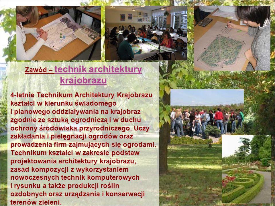 Zawód – technik architektury krajobrazu