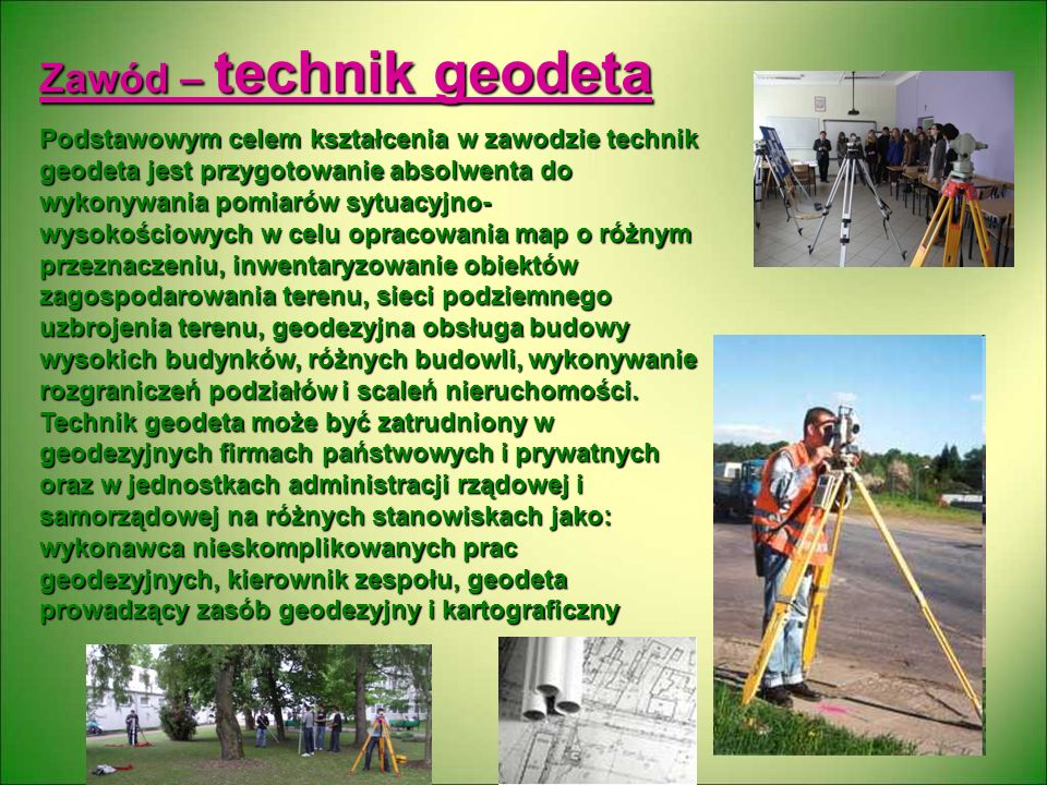 Zawód – technik geodeta