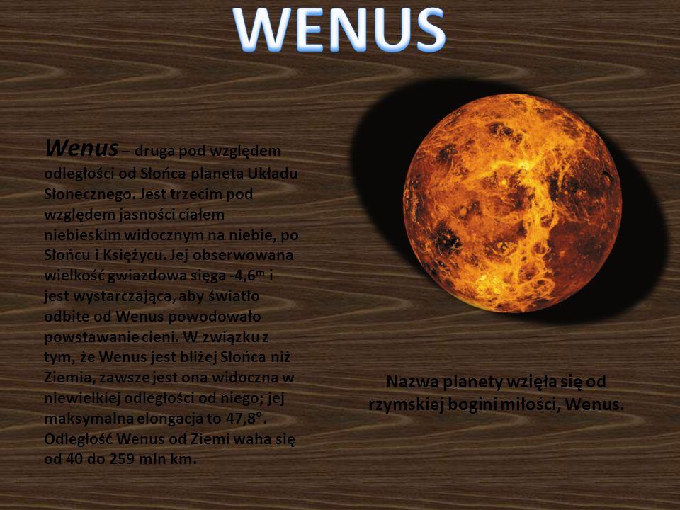 Nazwa planety wzięła się od rzymskiej bogini miłości, Wenus.