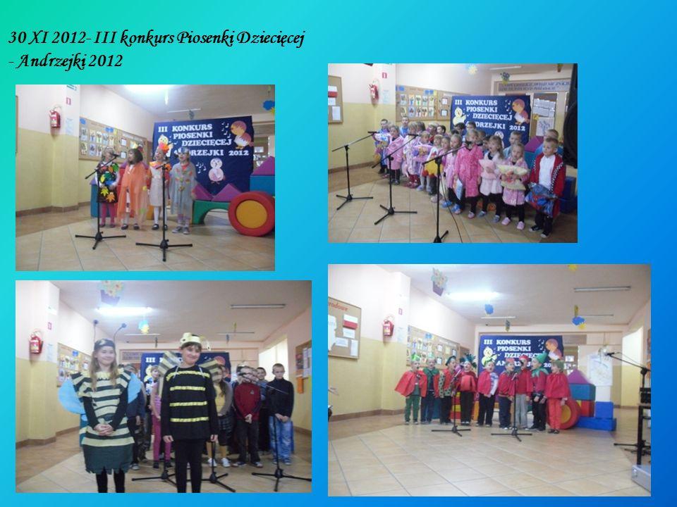 30 XI 2012- III konkurs Piosenki Dziecięcej - Andrzejki 2012