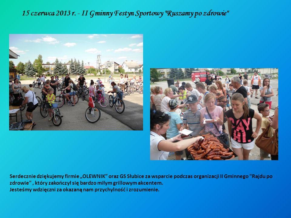 15 czerwca 2013 r. - II Gminny Festyn Sportowy Ruszamy po zdrowie