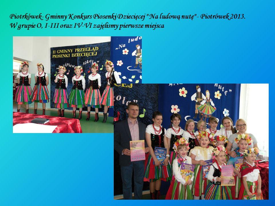 Piotrkówek- Gminny Konkurs Piosenki Dziecięcej Na ludową nutę - Piotrówek 2013.