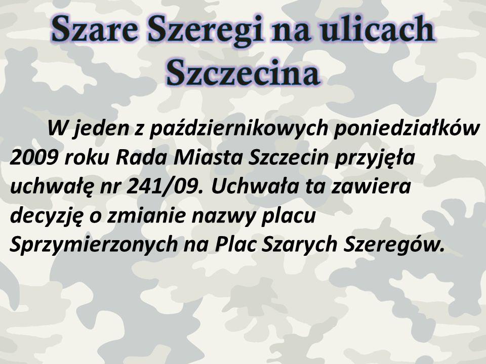 Szare Szeregi na ulicach Szczecina