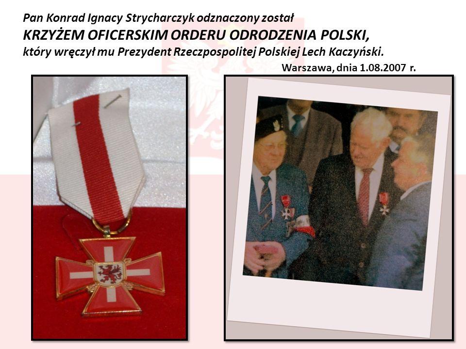 KRZYŻEM OFICERSKIM ORDERU ODRODZENIA POLSKI,