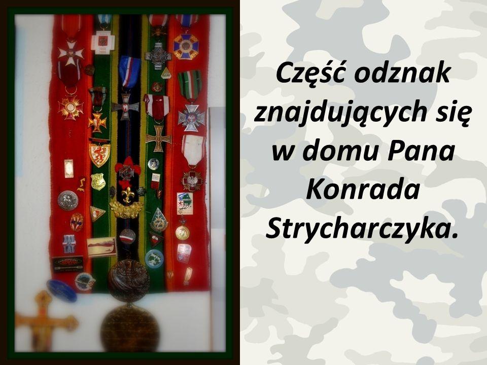 Część odznak znajdujących się w domu Pana Konrada Strycharczyka.