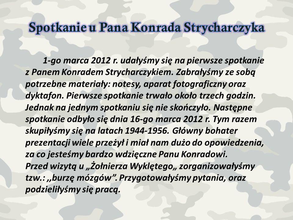 Spotkanie u Pana Konrada Strycharczyka