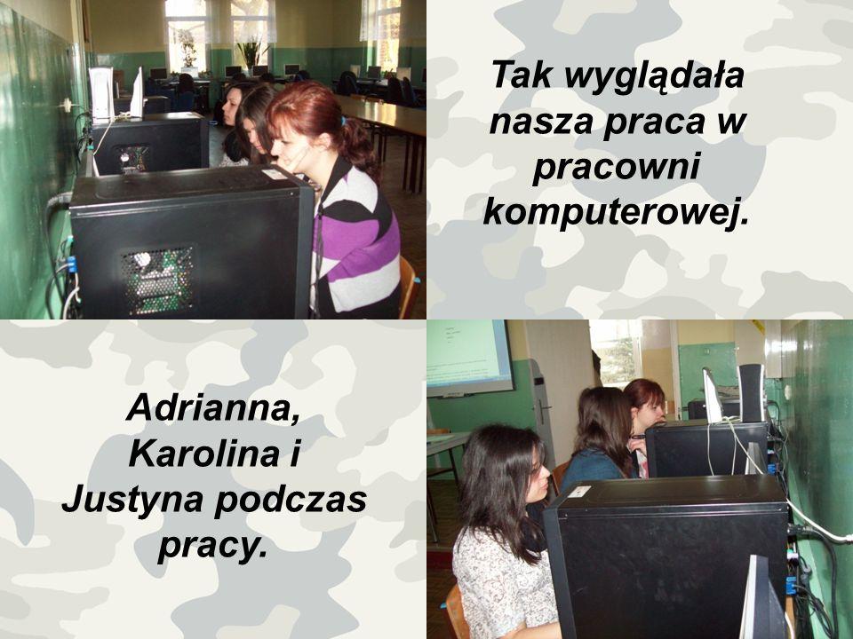 Tak wyglądała nasza praca w pracowni komputerowej.