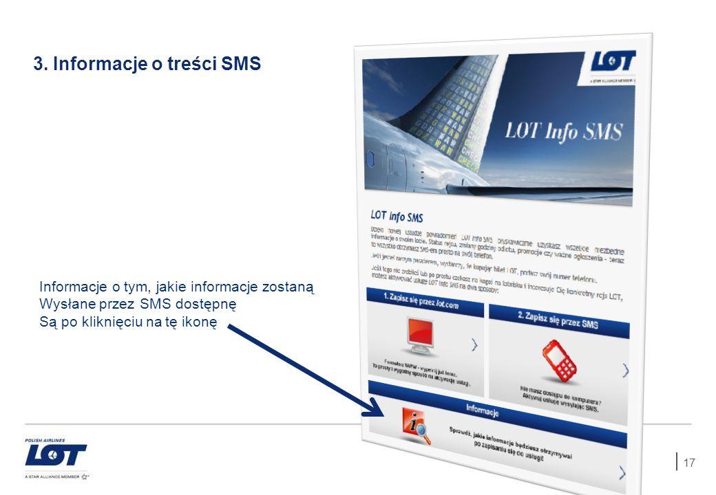 3. Informacje o treści SMS