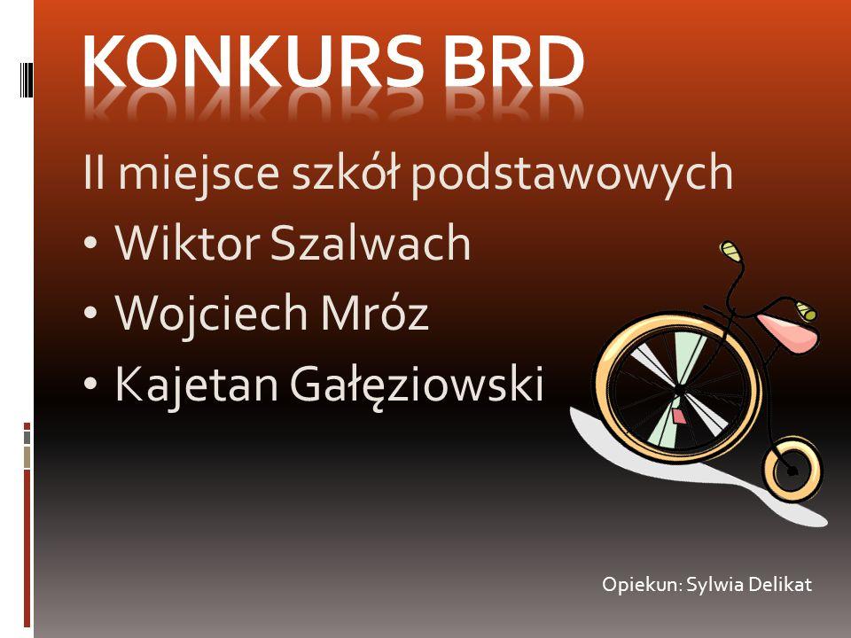 Konkurs BRD II miejsce szkół podstawowych Wiktor Szalwach