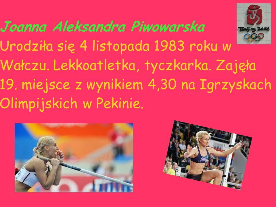 Joanna Aleksandra Piwowarska