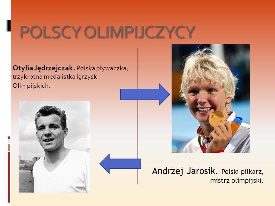 POLSCY OLIMPIJCZYCY Otylia Jędrzejczak. Polska pływaczka, trzykrotna medalistka Igrzysk Olimpijskich.