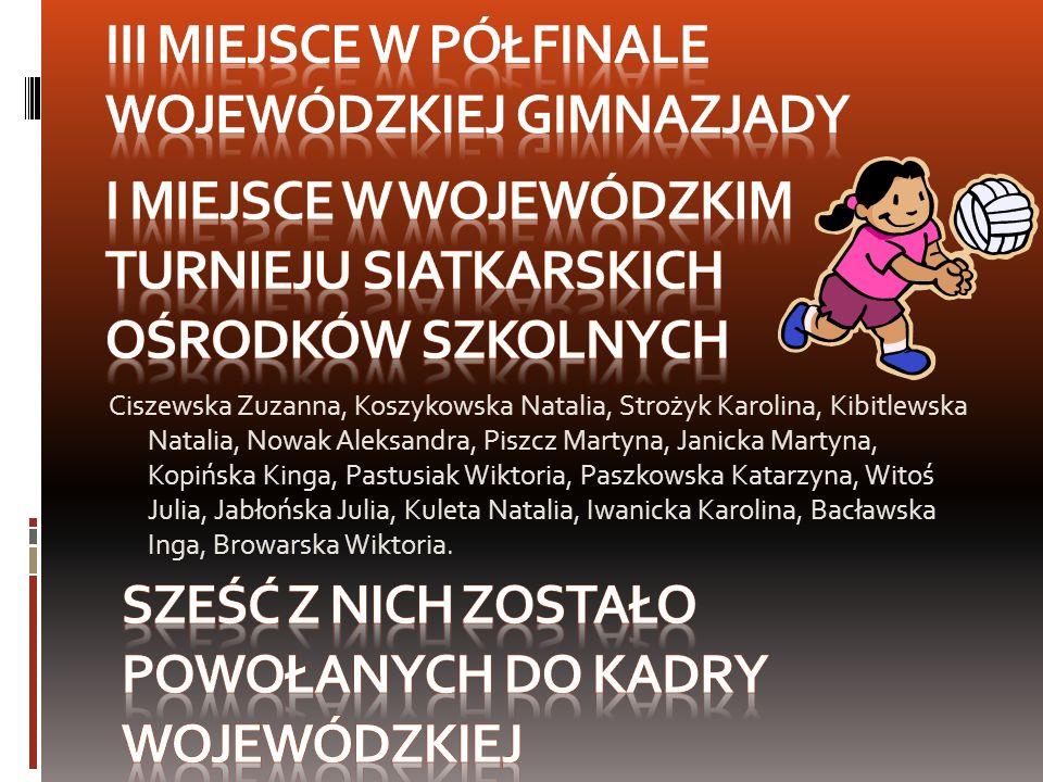 III miejsce w Półfinale wojewódzkiej gimnazjady