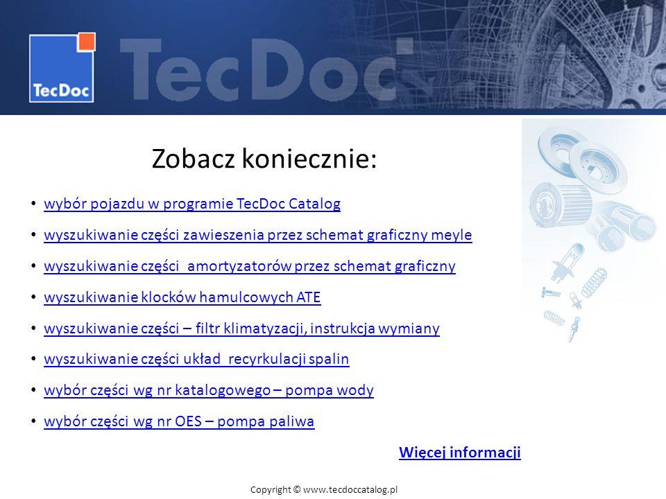 Zobacz koniecznie: wybór pojazdu w programie TecDoc Catalog