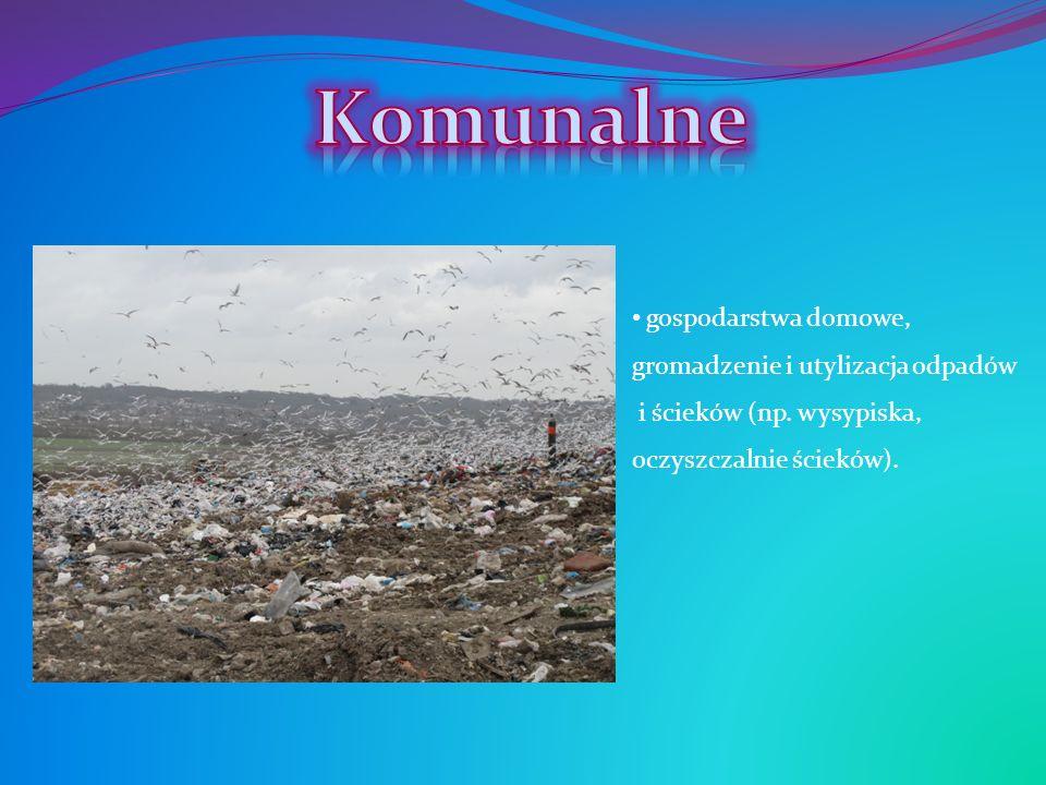 Komunalne gospodarstwa domowe, gromadzenie i utylizacja odpadów i ścieków (np.