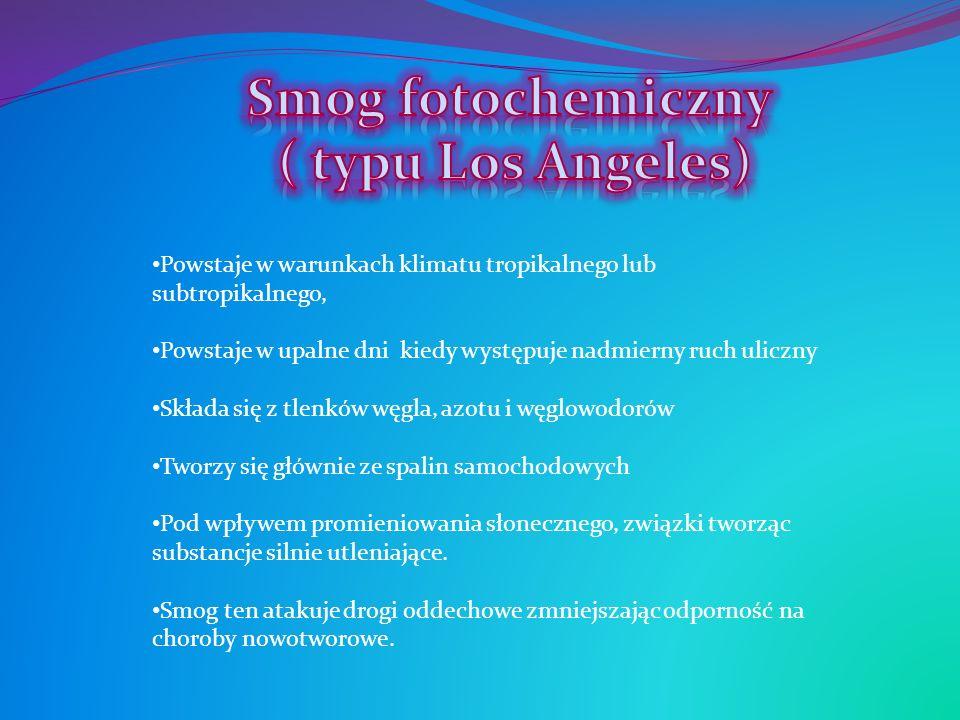 Smog fotochemiczny ( typu Los Angeles)