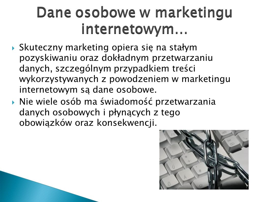 Dane osobowe w marketingu internetowym…