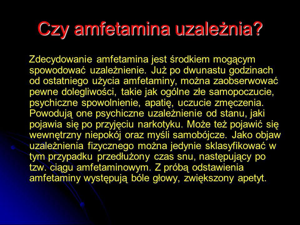 Czy amfetamina uzależnia