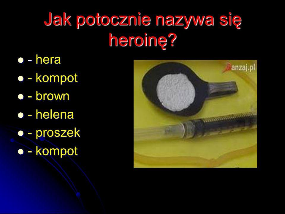 Jak potocznie nazywa się heroinę