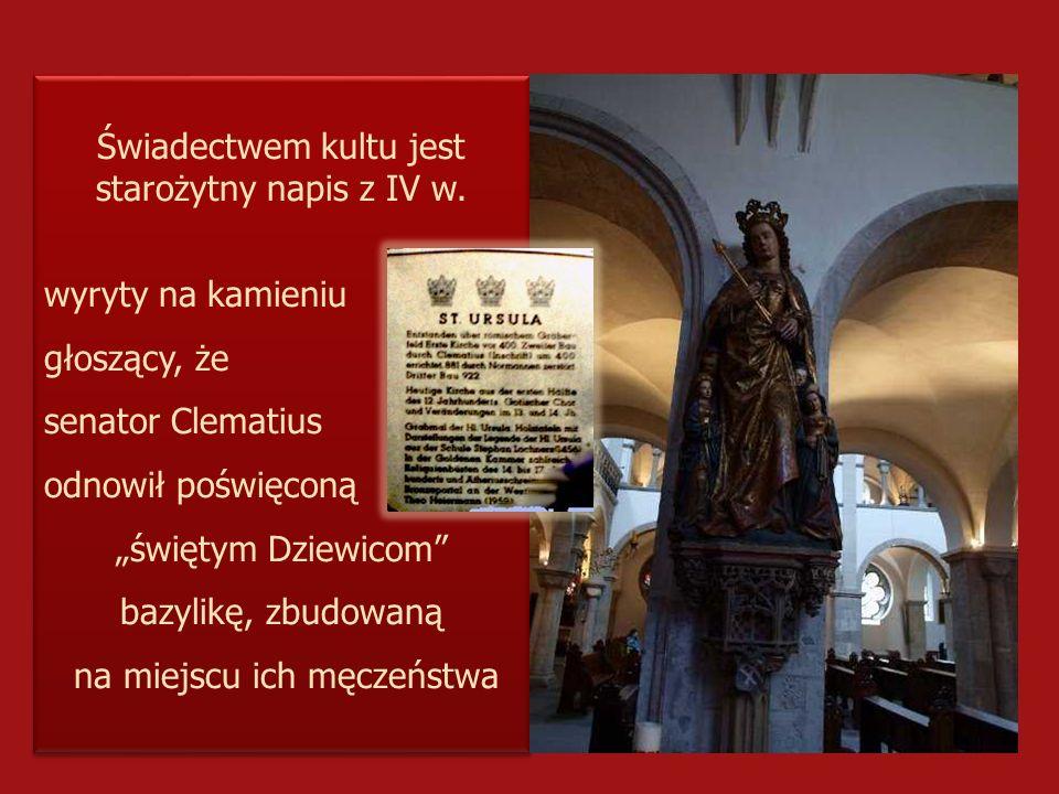 Świadectwem kultu jest starożytny napis z IV w.