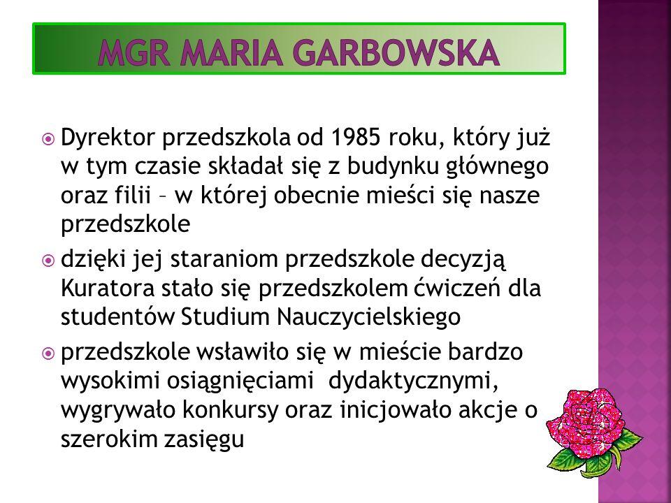 Mgr Maria garbowska