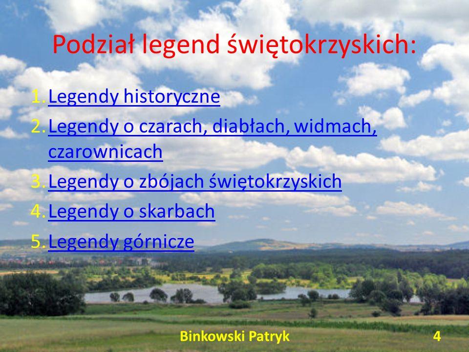 Podział legend świętokrzyskich: