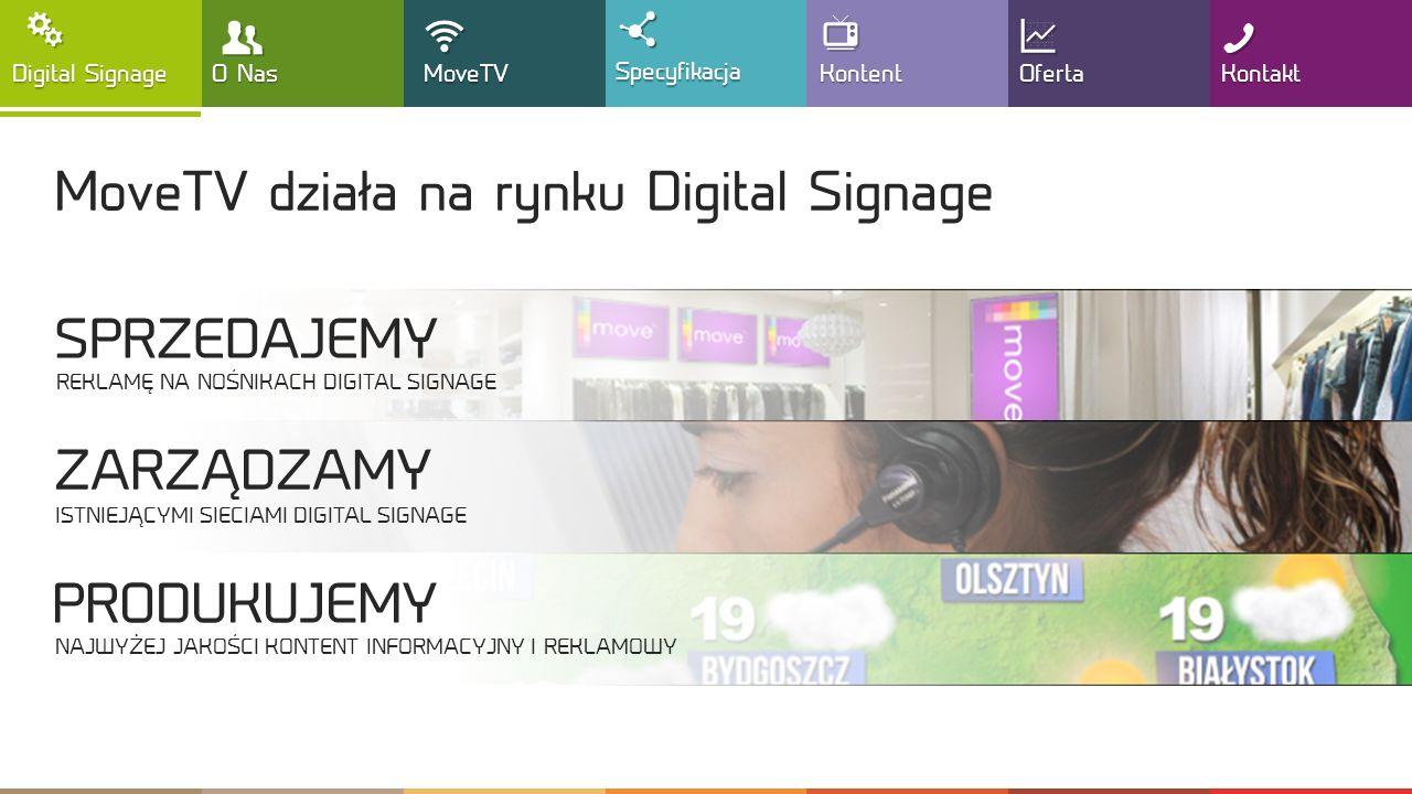 , T ! MoveTV działa na rynku Digital Signage SPRZEDAJEMY ZARZĄDZAMY