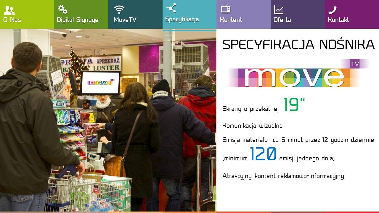 , T !  SPECYFIKACJA NOŚNIKA Y : G O Nas Digital Signage MoveTV