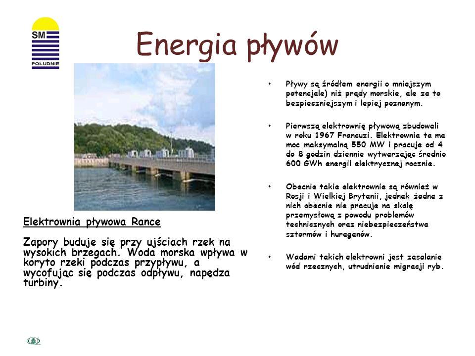 Energia pływów Elektrownia pływowa Rance