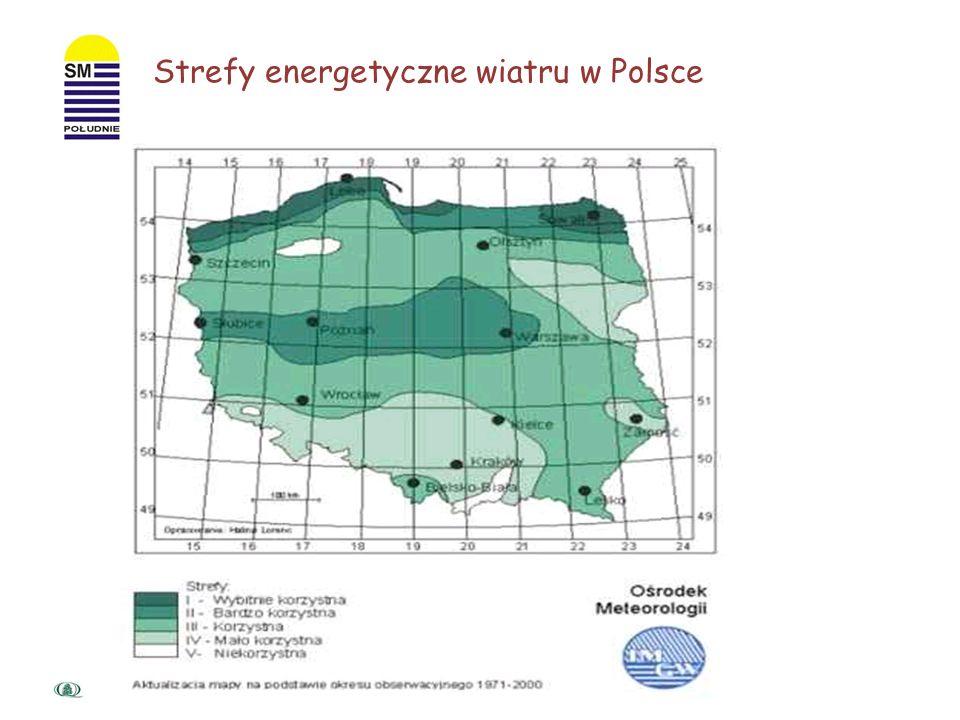 Strefy energetyczne wiatru w Polsce