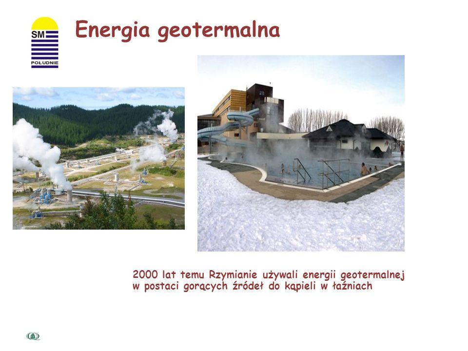 Energia geotermalna 2000 lat temu Rzymianie używali energii geotermalnej.