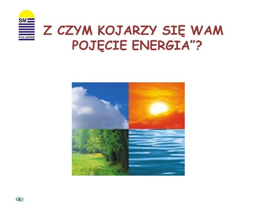 Z CZYM KOJARZY SIĘ WAM POJĘCIE ENERGIA