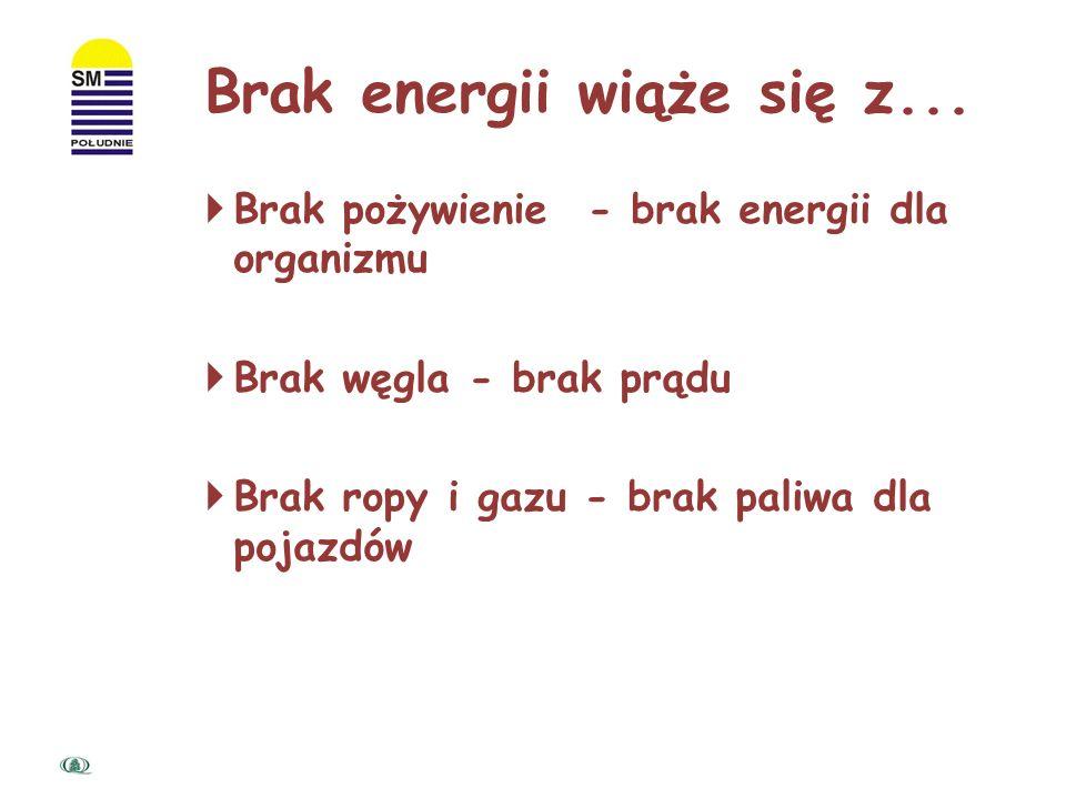 Brak energii wiąże się z...