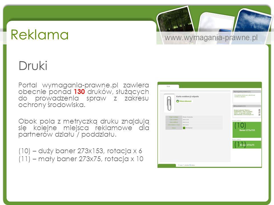Reklama Druki. Portal wymagania-prawne.pl zawiera obecnie ponad 130 druków, służących do prowadzenia spraw z zakresu ochrony środowiska.